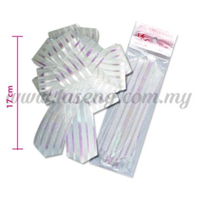 30mm Pull Flower Ribbon - White (RB-1PF30-W)