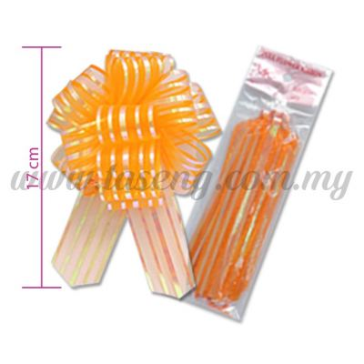 30mm Pull Flower Ribbon - Orange (RB-1PF30-OR)