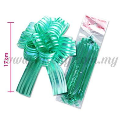 30mm Pull Flower Ribbon - Green (RB-1PF30-GN)