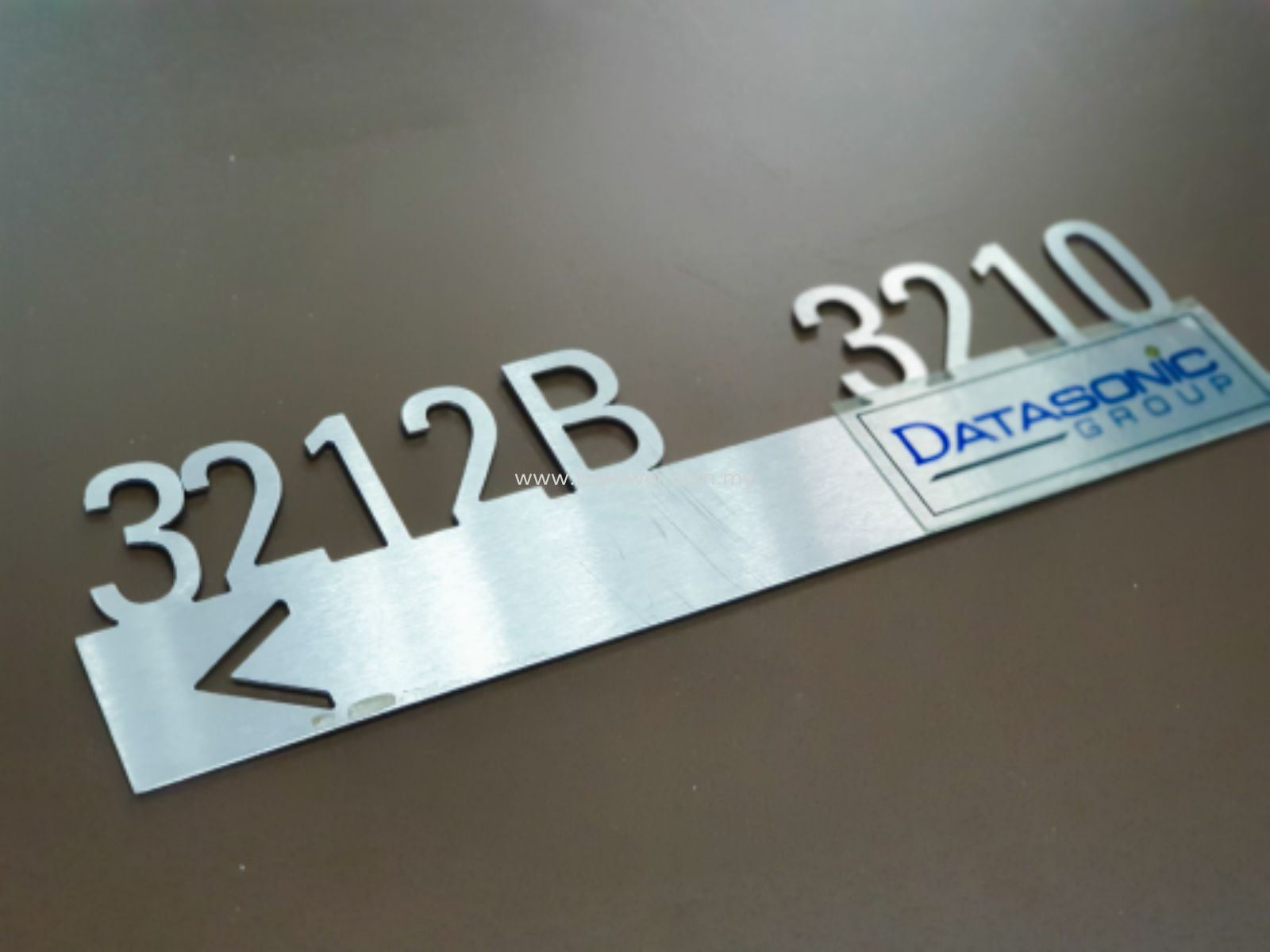 Laser Cut on Stainless Steel - Door Signage