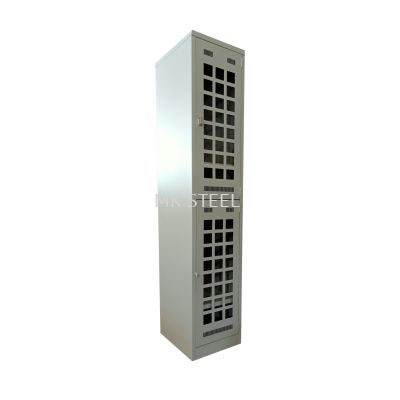 2 COMPARTMENT LOCKER 18'' WITH ACRYLIC DOOR