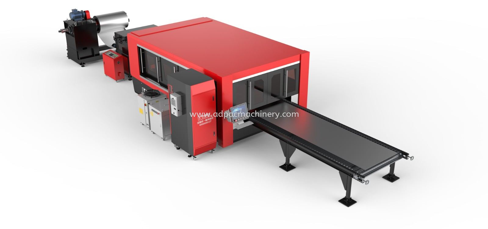 JDE Series Enclosed Type Automatic Coil Laser Cutting Machine