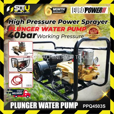 EUROX PPQ4503S Plunger Pump/ Power Sprayer 40bar 3.0HP Electric Motor