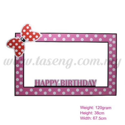 Photo Booth Frame (HB) Pink (P-BF-01P)