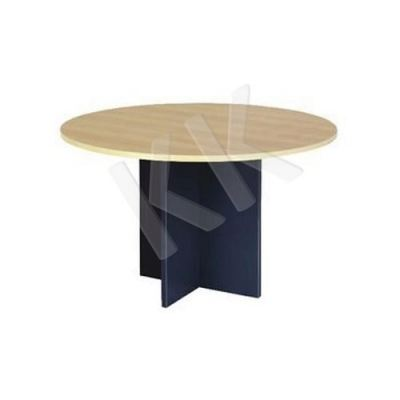 Maple & Dark Grey Round Discussion Table 1000W