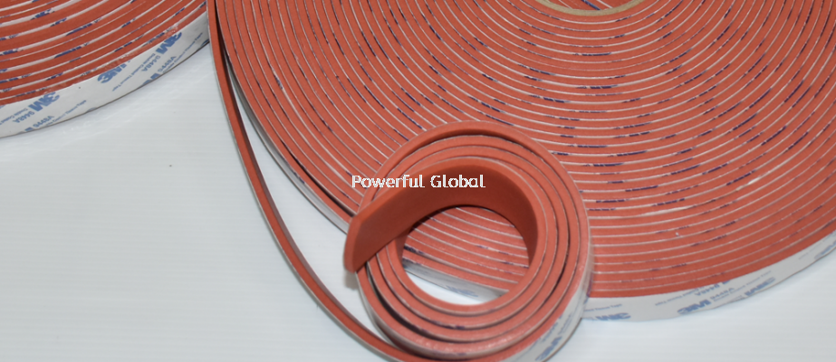 Silicone Rubber Strip With 3M Tape