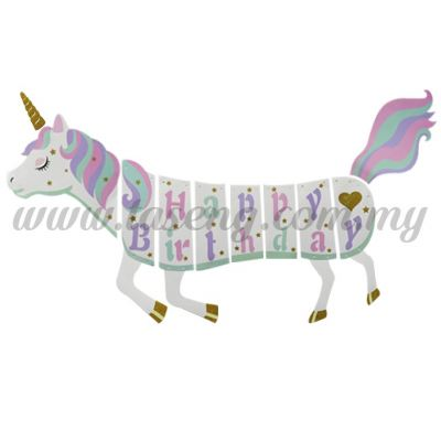 Banner Happy Birthday - Unicorn (P-BN-HH8924)