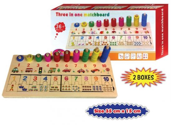 3IN1 Mathematics Match Board