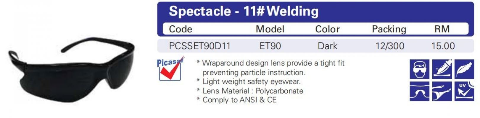 Eyewear - ET90 11# Welding - Dark