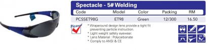 Eyewear - ET98 5# Welding - Green Picasaf Eyewear  EYE PROTECTION