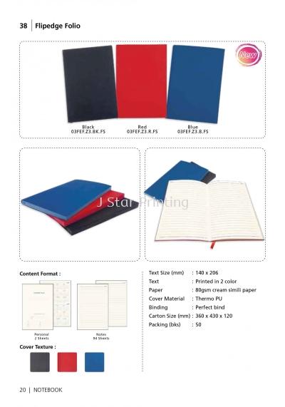 Notebook Flipedge Folio