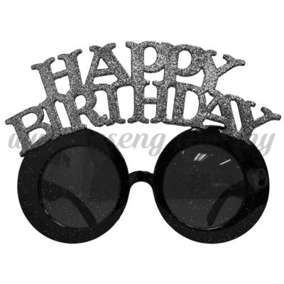 Sunglasses Happy Birthday Glitter - Silver (DU-SGHB-02SI)