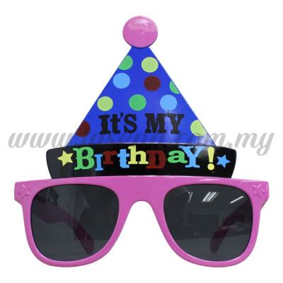 Sunglasses Happy Birthday Hat - Purple (DU-SGHB-05PP)
