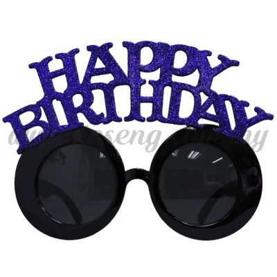 Sunglasses Happy Birthday Glitter - Blue (DU-SGHB-02B)