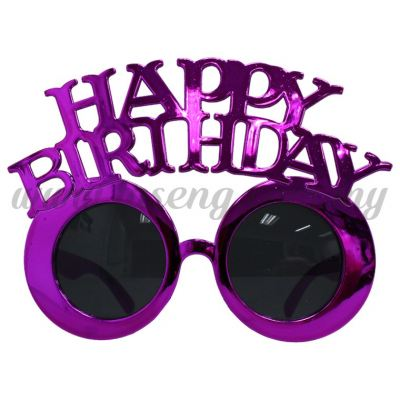 Sunglasses Happy Birthday - Purple (DU-SGHB-06PP)