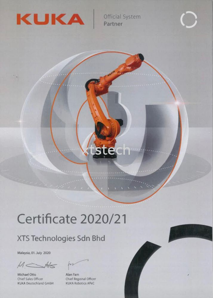 XTS Technologies Sdn Bhd now are KUKA Official System Partner
