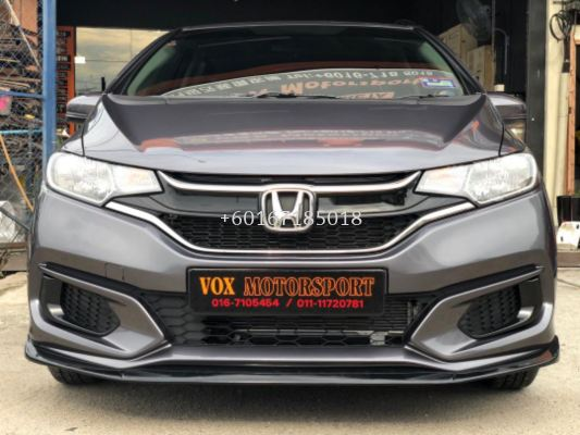 2017 2018 2019 2020 honda jazz gk takero style front lip diffuser takero style gloss black material brand new set