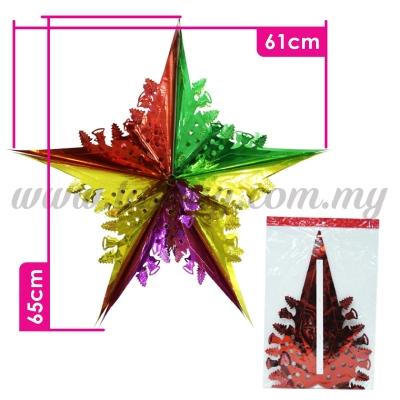 Decoration Foil Star - Mix Colour (PD-STB-MIX)