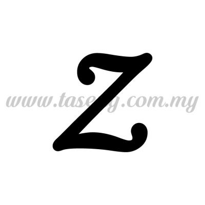 Sticker Alphabet Z - Regular (SK-AALP5-Z)