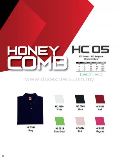 Oren HC05 Baju Cotton Polo Tee Ladies