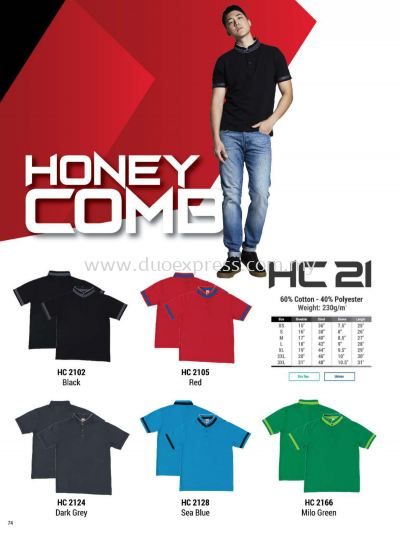Oren HC21 Baju Cotton Polo Tee Unisex