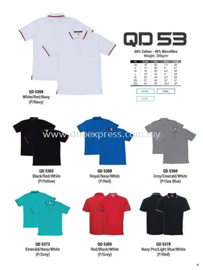Oren QD53 Baju Collar Microfibre QuickDri Unisex