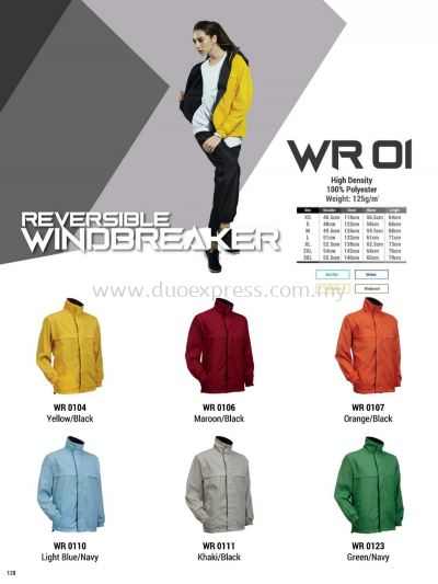 Oren WR01 Windbreaker Reversible