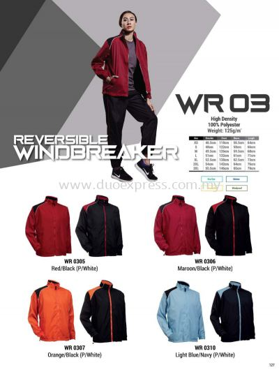 Oren WR03 Windbreaker Reversible