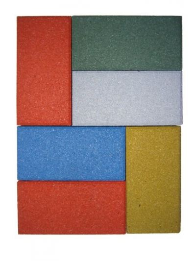 Recycled Rubber Rectangular Paver