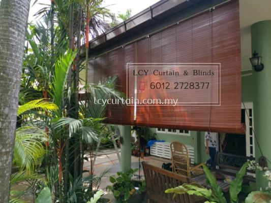 Tropical Outdoor Wooden Blind