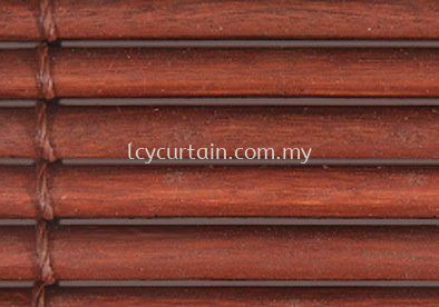One Inch Outdoor Wood Blind- String Teak Oil Teak