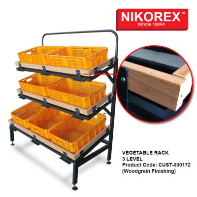 190004 - Vegetable Rack 3 Level (Metal Only)