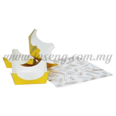 Square Paper Mousse Cup Set 1set *500pcs+- (MC-13)