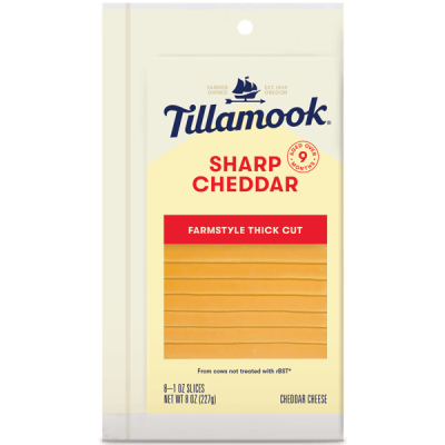 Tillamook Single Slices Sharp Cheddar