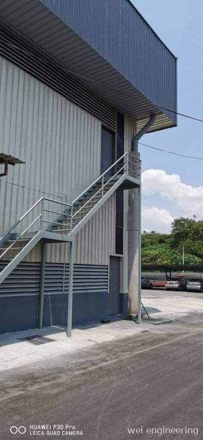 Fire Escape Steel Staircase