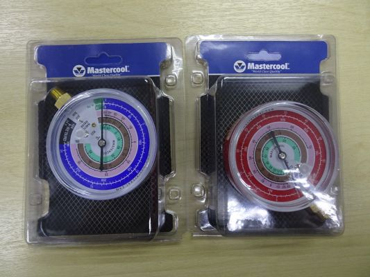 MASTERCOOL EBH/EBL 80MM PRESSURE GAUGE (HIGH & LOW SIDE) (R410A, R407C, R22)