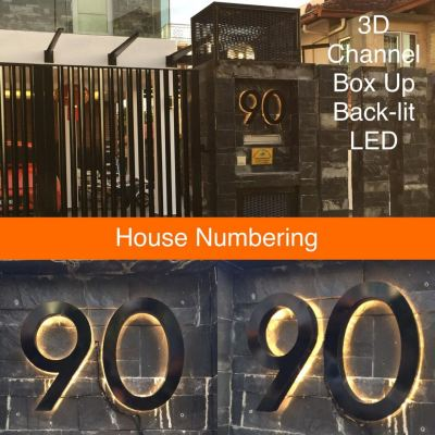3D house numbering sign