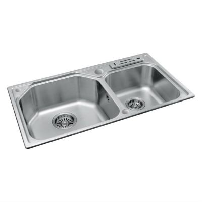 Stainless Double Bowl Sink MIX 624
