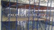 Racking with 2 Tier Platform Racking with Platform