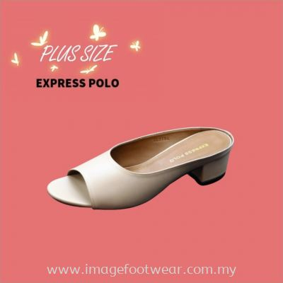 Express Polo Plus Size Ladies Sandal with 1.2 Inch Heel - SL- 9194- MILO Colour