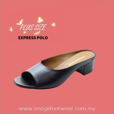 Express Polo Plus Size Ladies Sandal with 1.2 Inch Heel - SL- 9194- BLACK Colour
