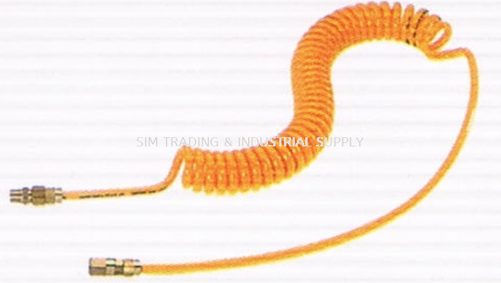 Spiral Yellow Hoses