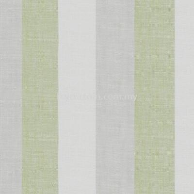 Stripe Curtain Linen Field Esplanade 02 Moss
