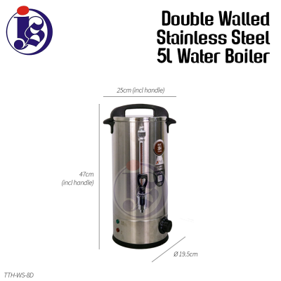 5 Liter Double Walled Stainless Steel Water Boiler