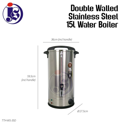 15 Liter Double Walled Stainless Steel Water Boiler