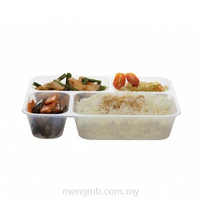 4 Compartments Rectangular Container