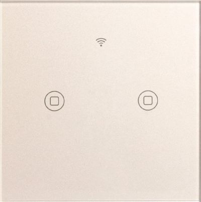 2 Gang Smart Panel Wall Switch (Neutral Line)