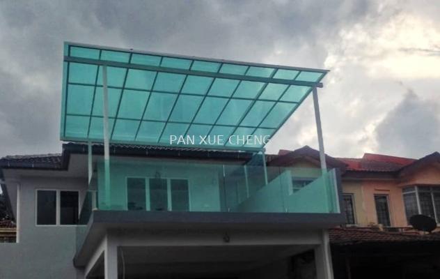 Balcony Roof Glass