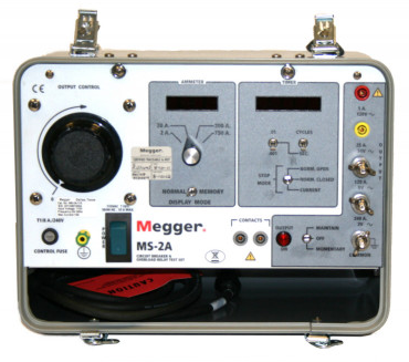 MEGGER MS2A Circuit Breaker and Overcurrent Relay Test Set