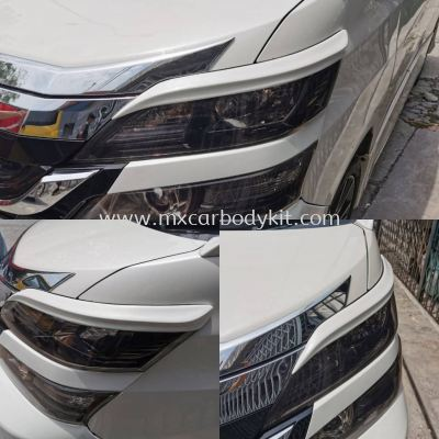 TOYOTA VELLFIRE ANH20 2008 - 2014 J-EMOTION DESIGN FRONT HEAD LAMP EYE LIDS 1 SET